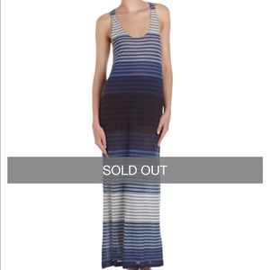 Joie de la plage belina blue striped maxi dress S